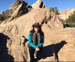 Crystal Whiskey Vasquez Rocks Video Shoot